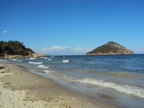 Paradise Beach, plaja intinsa cu nisip din Thassos
