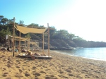 plaja cu baldachine in Thassos