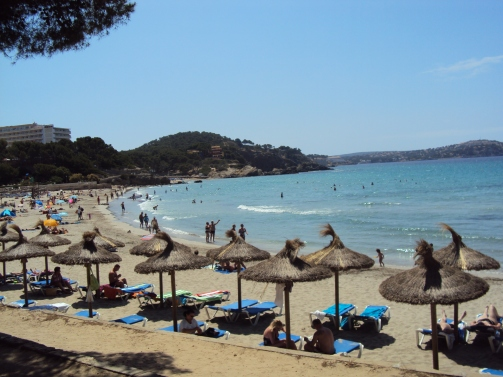 palja intinsa cu nisip fin Pala de Mallorca
