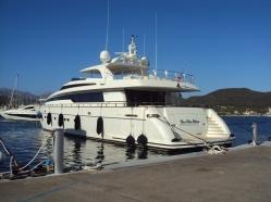 yacht in port Adriano Palma de Mallorca