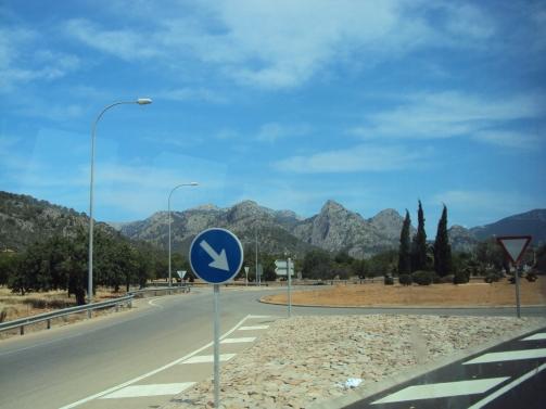 drumul spre Soller in Palma de Mallorca