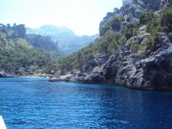 sosire pe plaja unica din Mallorca, Sa Calobra