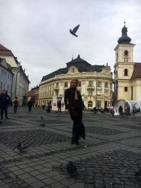 o zi de toamna in Piata Mare din Sibiu
