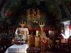 interior biserica Stanesti Comuna Corbi Argesi