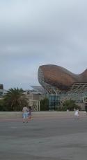 Port Olimpic- statuie Peix