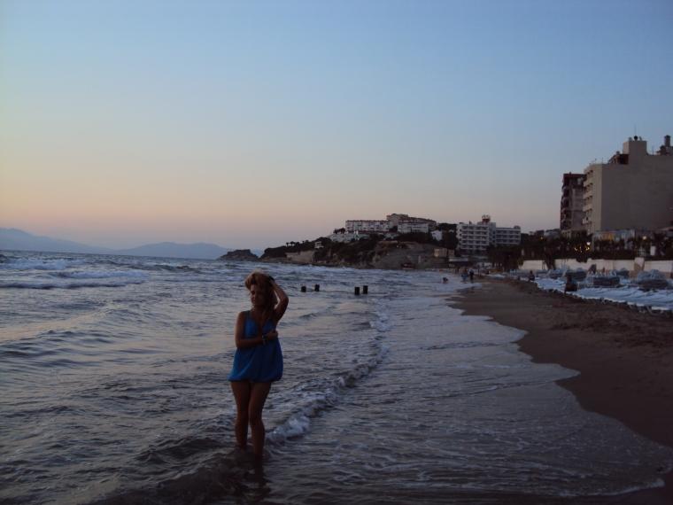 plaja cu nisip fin Kusadasi