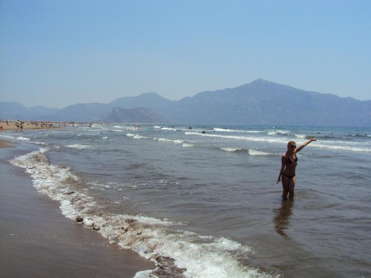 plaja delta raului Dalyan