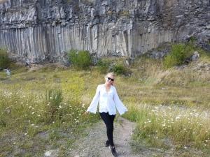 cele mai frumpase coloane de bazalt de la Racos Brasov