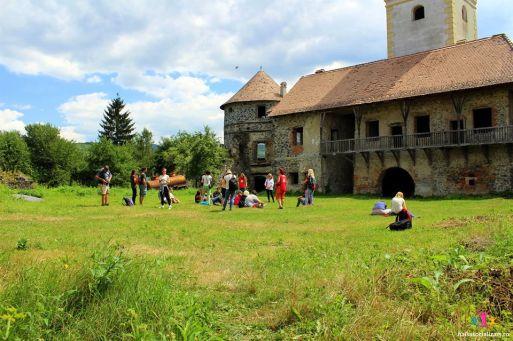 curtea interiorara a castului Sükösd-Bethlen
