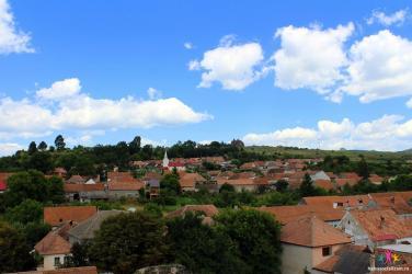 satul Racos vazut din turnul castelului Sukosd Bethlen