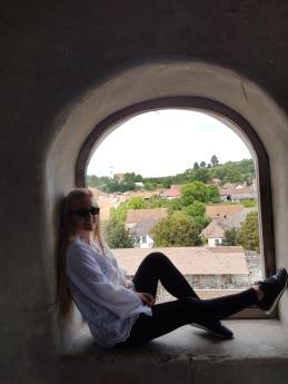 vedere asupra satului Racos din turnul castelului sukosd-bethlen