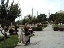intrare in Moscheea Albastra Sultan Ahmet