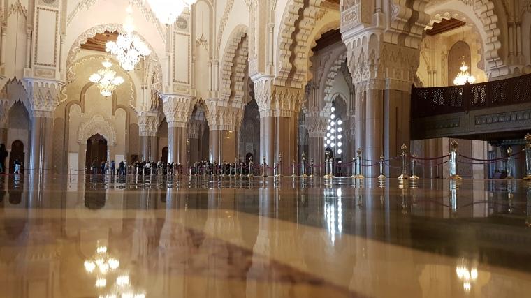 Moscheea Hassan II din Casablanca este cea mai mare moschee din Africa si a cincea din lume