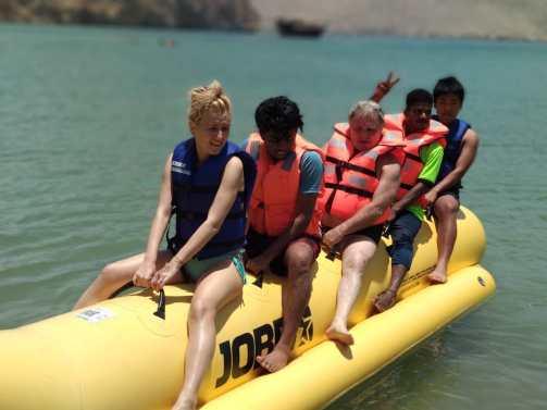 Banana boat ride Oman