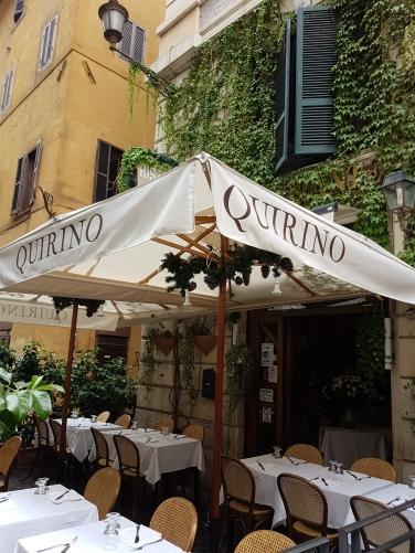 Quirino locuri unde sa mananci bine in Roma