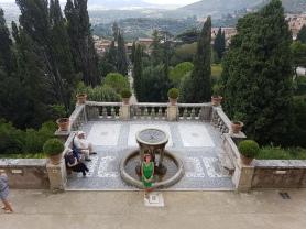 vedere de sus de la Villa D'Este