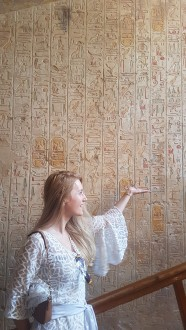hieroglife mormantul lui Merenphta Valea Regilor Luxor Egipt