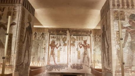 interior mormant Ramses al IIIlea Valea Regilor - obiective turistice de neratat din Egipt