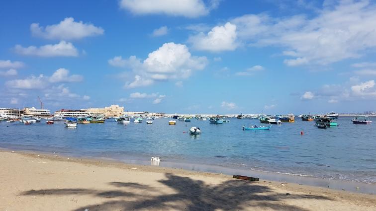 Marea Mediterana in Alexandria Egipt