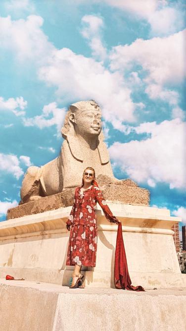 sphinx in Alexandria la Coloana lui Pompei