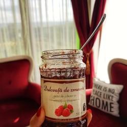 dulceata de zmeura 100% naturala Gustu din Camara ta