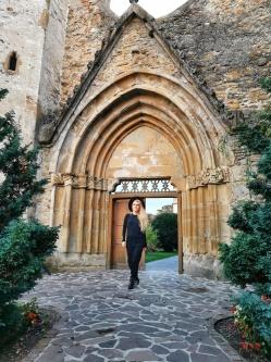 portirul gotic intrate în abața cisterciană Cârța