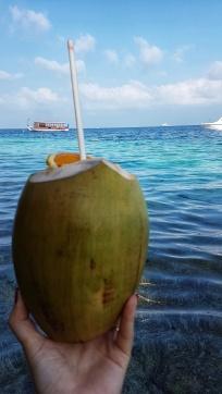 coconut cocktail in Maldives