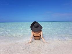 Oceanul Indian Maldive blue lagoon