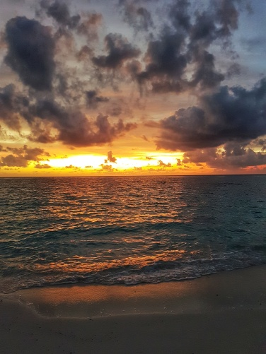 best sunsests at Fihalhohi Island Resort are at Blue Lagoon Bar