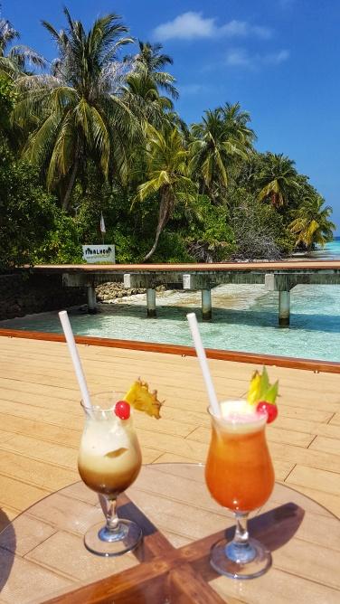 cocktails at Fihalhoi Island Resort
