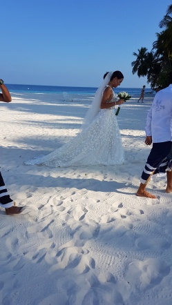 romantic wedding on the beach in Maldives at Fihalhohi Island Resort